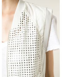 Kai-aakmann - Perforated-Front Zip-Through Gilet - Lyst