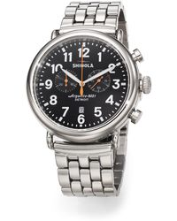 Shinola Runwell Stainless Steel Chronograph Bracelet Watch - Lyst