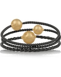 Giles & Brother Set Of Three Gold And Gunmetal-Plated Bracelets - Lyst