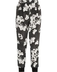 Giambattista Valli Cropped Floralprint Cottonblend Tapered Pants - Lyst