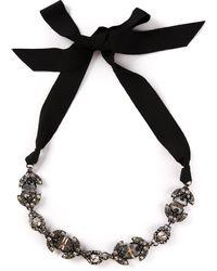 Lanvin Crystal Bead Ribbon Necklace - Lyst