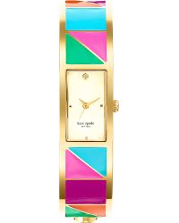 Kate Spade Carousel Goldplated Metal and Enamel Watch Mixed - Lyst