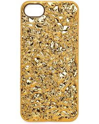 Marc By Marc Jacobs Foil Iphone 5  5s Case - Gold - Lyst