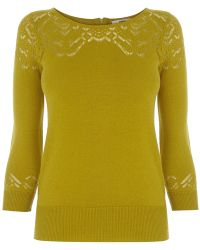 Oasis Pointelle Detail Cute Jumper - Lyst