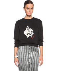 Carven Black Shell Sweatshirt - Lyst