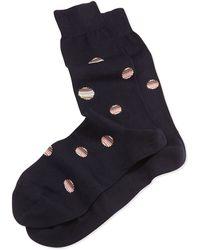 Paul Smith Stripe-polka-dot Socks - Lyst