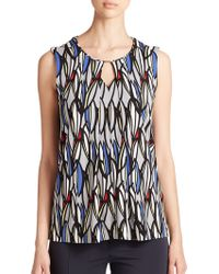 Boss by Hugo Boss Printed Jersey Top - Lyst