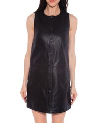 T By Alexander Wang Leather Dress - Lyst