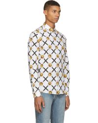 Versus  White And Gold Medallion Print Shirt - Lyst