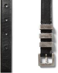Saint Laurent Black 2Cm Leather Belt - Lyst
