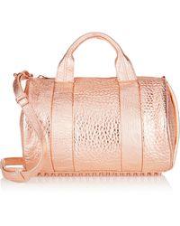 Alexander Wang Rocco Metallic Textured Leather Shoulder Bag - Lyst