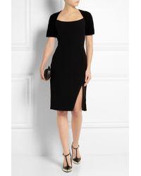 Altuzarra Angelina Velvet-trimmed Crepe Dress - Lyst