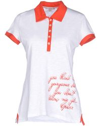 Guess Polo Shirt white - Lyst