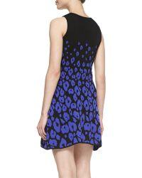 Shoshanna Sleeveless Leopardprint Fit Flare Dress - Lyst