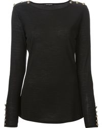 Balmain Knit Sweater - Lyst
