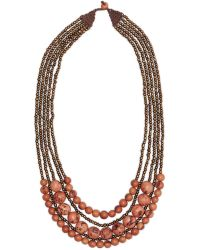 Greenola Style - Pink Bernadette Necklace - Lyst