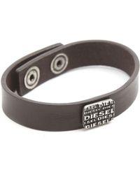 Diesel Bronti Brown Belt And Bracelet Set brown - Lyst