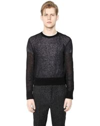 CALVIN KLEIN 205W39NYC - Mohair & Wool Blend Sweater - Lyst