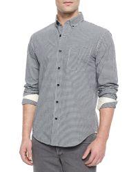 Rag & Bone Yokohama Small-Check Woven Shirt - Lyst