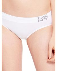 DKNY White Seamless Panty - Lyst