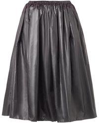 Christopher Kane Ruched-Nylon Midi Skirt - Lyst