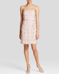 Adrianna Papell Dress - Strapless Embellished pink - Lyst