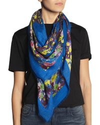 Erdem - Lace Kimono Printed Modal and Cashmere blend Scarf - Lyst