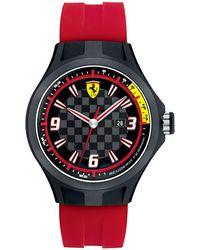 Scuderia Ferrari - Men's Pit Crew Red Silicone Strap 44mm 830002 - Lyst