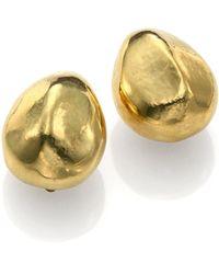 Vaubel Hammered Pebble Clip-on Earrings - Lyst