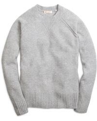 Brooks Brothers Gray Cashmere Sweater - Lyst
