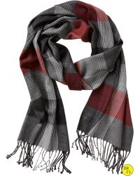 Banana Republic Factory Contrast-stitch Plaid Scarf red - Lyst
