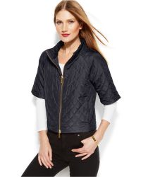 Michael Kors Michael Petite Short-sleeve Quilted Puffer - Lyst