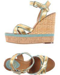 Ash Gold Sandals - Lyst