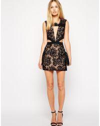 Stylestalker Night Fever Lace Cut Out Dress - Lyst