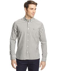 Lacoste Big and Tall Long-sleeve Gingham Poplin Shirt - Lyst