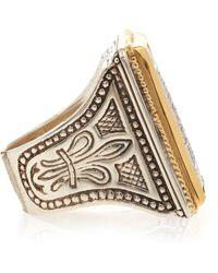 Konstantino - Diamond Pave Square Ring - Lyst