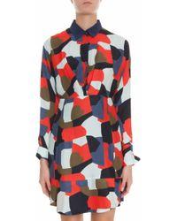 Paul & Joe Camo Print Shirt Dress - Lyst