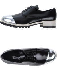 Miu Miu Lace-Up Shoes - Lyst