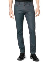 Calvin Klein Ck One Twotone Carbon Coated Pants - Lyst