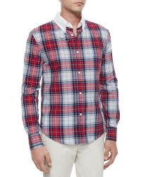 Band of Outsiders Plaid Button-Down Shirt - Lyst
