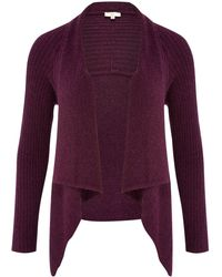Cc Boucle Waterfall Cardigan - Lyst
