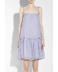 Cacharel Striped Babydoll Dress - Lyst