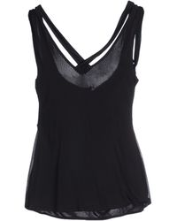 Versace Top black - Lyst