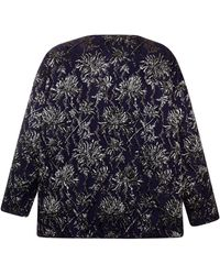 Rochas Stretch Floral Brocade Jacquard Trapeze Top - Lyst