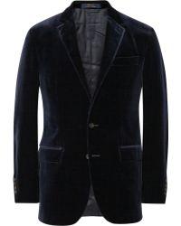 Polo Ralph Lauren Slimfit Velvet Blazer - Lyst