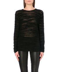 Helmut Lang Semi-Sheer Knitted Top - For Women - Lyst