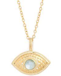 Anna Beck - 'evil Eye' Pendant Necklace - Aquamarine - Lyst