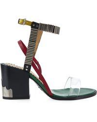 Toga - Embellished Block-Heel Sandals - Lyst