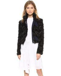 Nina Ricci Black Cropped Jacket  - Lyst