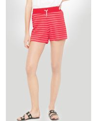 Sandro Shorts - Panik Striped red - Lyst